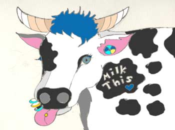 Mooscience: Where does acid whey come from? drawn by Susan Fluegel